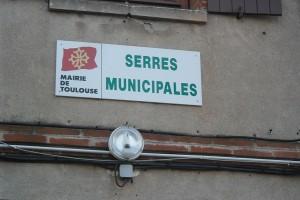 serre municipale panneau